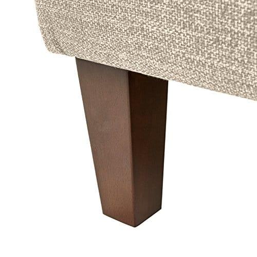 Stone Beam Highland Modern Wingback Accent Chair 32W Oatmeal 0 0