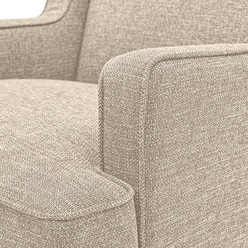 Stone Beam Highland Modern Wingback Accent Chair 32W Oatmeal 0 1