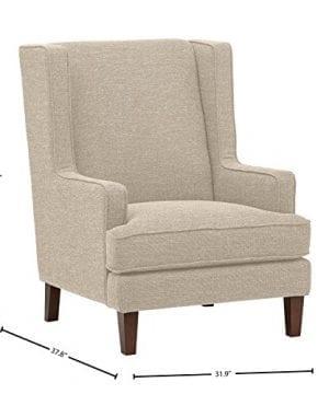 Stone Beam Highland Modern Wingback Accent Chair 32W Oatmeal 0 2 300x360