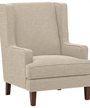 Stone Beam Highland Modern Wingback Accent Chair 32W Oatmeal 0 300x360