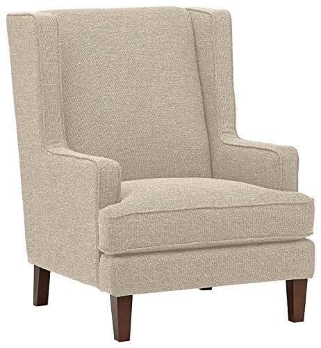 Stone Beam Highland Modern Wingback Accent Chair 32W Oatmeal 0
