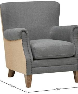 Stone Beam Jacobsen Traditional Accent Chair 31W Grey 0 1 300x360
