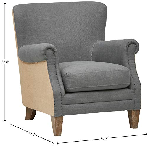 Stone Beam Jacobsen Traditional Accent Chair 31W Grey 0 1