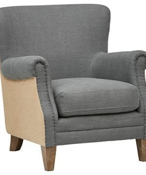 Stone Beam Jacobsen Traditional Accent Chair 31W Grey 0 300x360