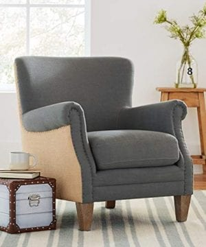 Stone Beam Jacobsen Traditional Accent Chair 31W Grey 0 4 300x360