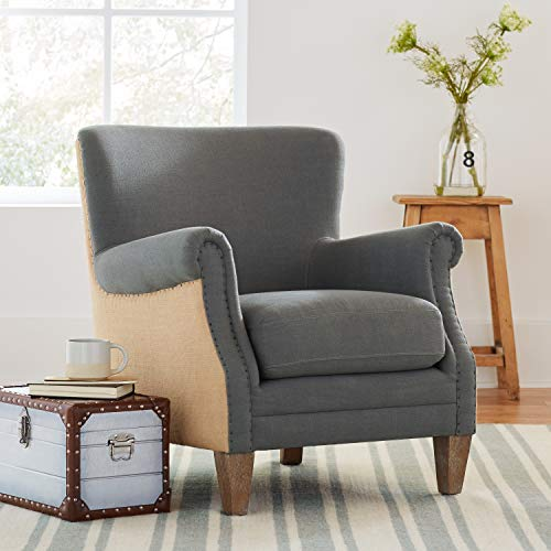 Stone Beam Jacobsen Traditional Accent Chair 31W Grey 0 4