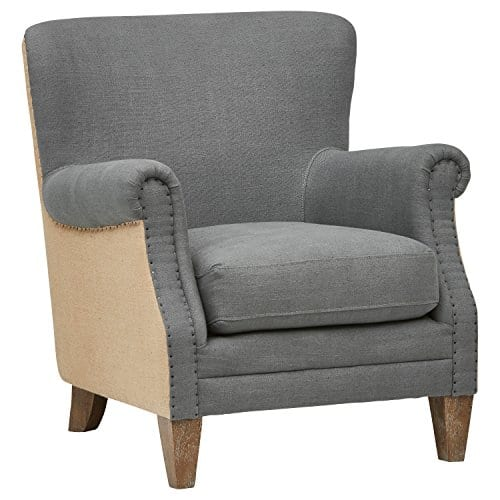 Stone Beam Jacobsen Traditional Accent Chair 31W Grey 0
