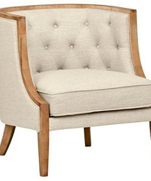 Stone Beam Laurel Rounded Chair 30W Sand 0 300x360