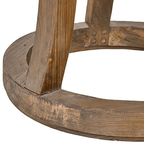 Stone Beam Modern Rustic Reclaimed Elm Side Table 169W Natural 0 0
