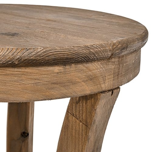 Stone Beam Modern Rustic Reclaimed Elm Side Table 169W Natural 0 1
