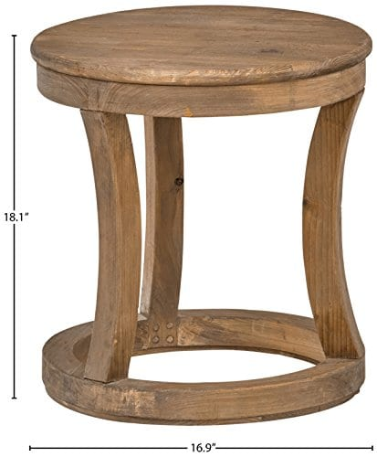Stone Beam Modern Rustic Reclaimed Elm Side Table 169W Natural 0 2