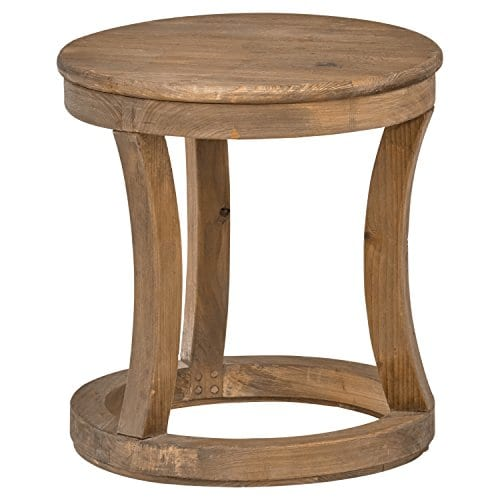 Stone Beam Modern Rustic Reclaimed Elm Side Table 169W Natural 0