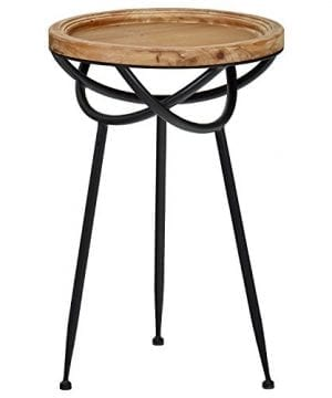 Stone Beam Modern Rustic Wood And Metal Side Table 1625W Natural 0 0 300x360