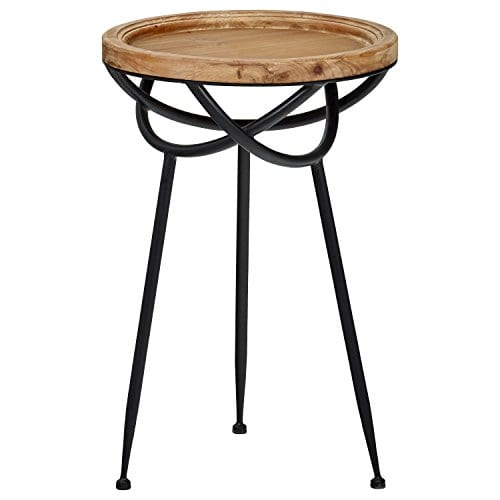 Stone Beam Modern Rustic Wood And Metal Side Table 1625W Natural 0 0