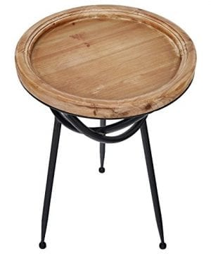 Stone Beam Modern Rustic Wood And Metal Side Table 1625W Natural 0 1 300x360