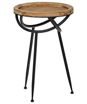 Stone Beam Modern Rustic Wood And Metal Side Table 1625W Natural 0 300x360