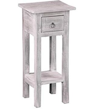 Sunset Trading CC TAB1792LD SW Shabby Chic Cottage Accent Table Stonewall Gray 0 300x360