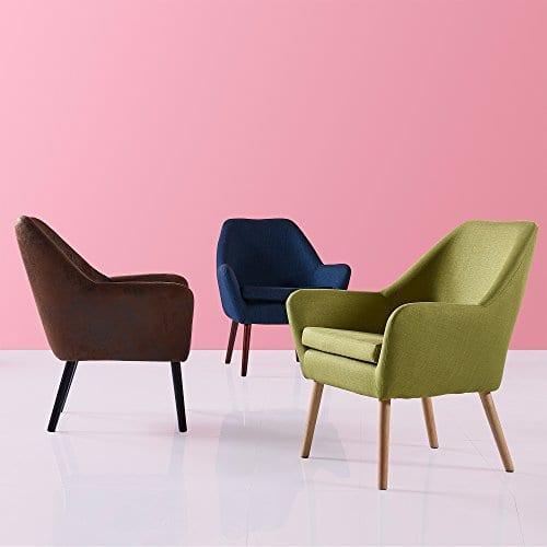 Versanora VNF 00033AF Divano Stylish Beautiful Industrial Modern Vintage Lounge Sofa Aged Fabric 0 4