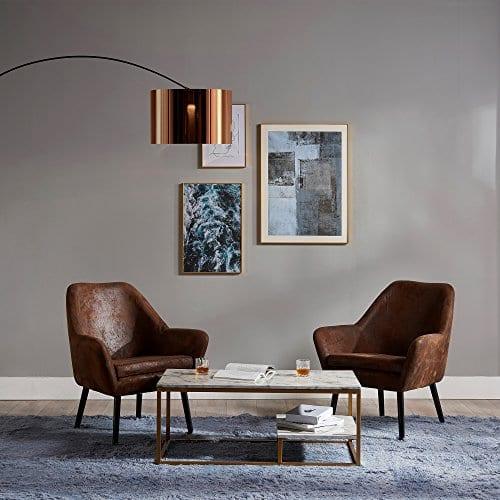 Versanora VNF 00033AF Divano Stylish Beautiful Industrial Modern Vintage Lounge Sofa Aged Fabric 0 5