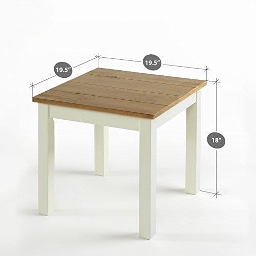 Zinus Becky Farmhouse Wood Side Table 0 1