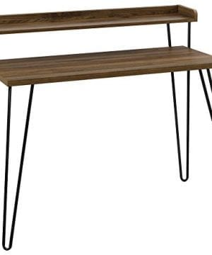 Ameriwood Home Haven Retro Desk With Riser Walnut 0 300x360