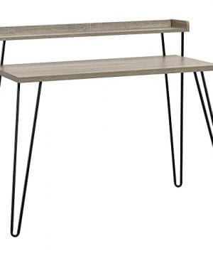 Ameriwood Home Haven Retro Desk With Riser Weathered Oak 0 0 300x360