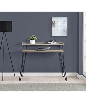 Ameriwood Home Haven Retro Desk With Riser Weathered Oak 0 3 300x360