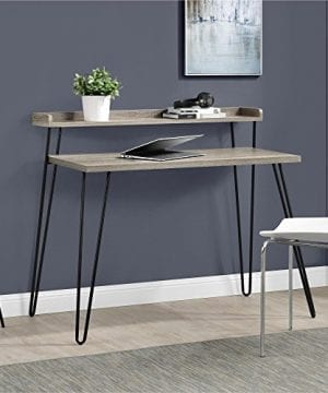 Ameriwood Home Haven Retro Desk With Riser Weathered Oak 0 300x360