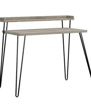 Ameriwood Home Haven Retro Desk With Riser Weathered Oak 0 4 300x360