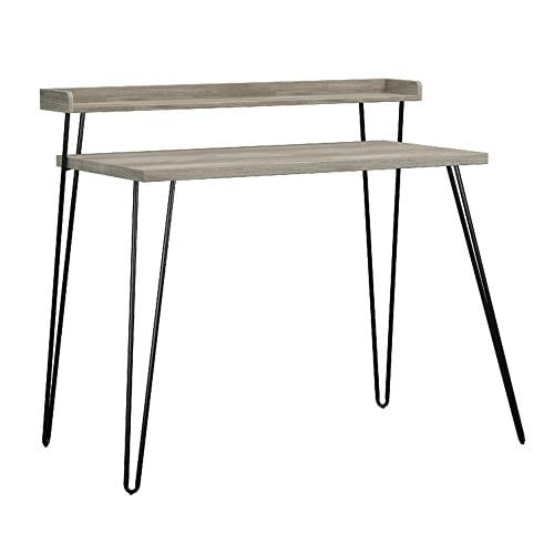 Ameriwood Home Haven Retro Desk With Riser Weathered Oak 0 4