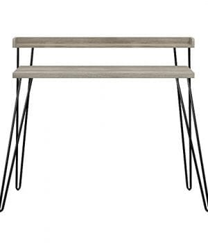Ameriwood Home Haven Retro Desk With Riser Weathered Oak 0 5 300x360
