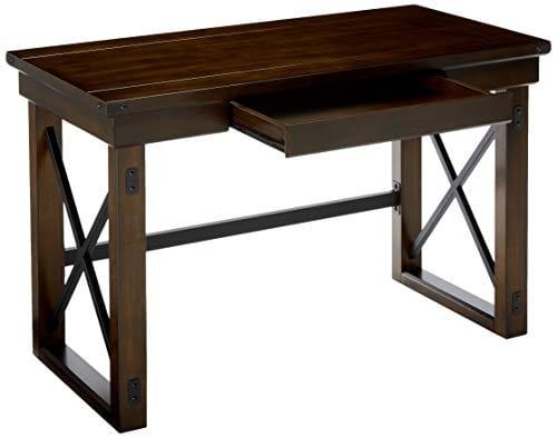 Ameriwood Home Wildwood Wood Veneer Desk Espresso 0 1