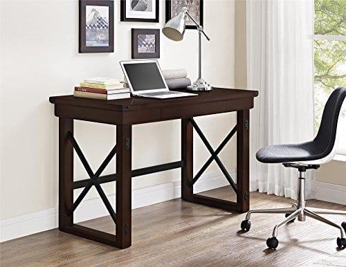 Ameriwood Home Wildwood Wood Veneer Desk Espresso 0 2