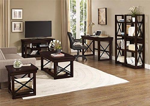 Ameriwood Home Wildwood Wood Veneer Desk Espresso 0 3