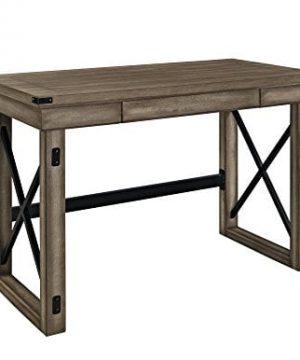 Ameriwood Home Wildwood Wood Veneer Desk Rustic Gray 0 300x360
