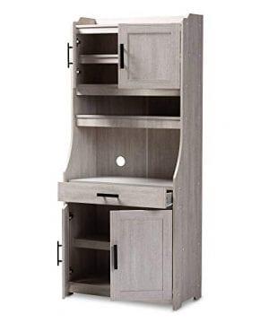 Baxton Studio 152 9175 AMZ Kitchen Storages One Size White 0 0 300x360