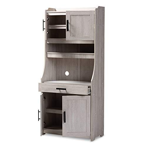 Baxton Studio 152 9175 AMZ Kitchen Storages One Size White 0 0