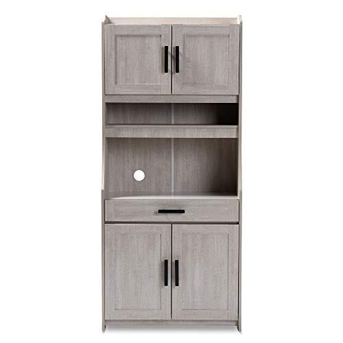 Baxton Studio 152 9175 AMZ Kitchen Storages One Size White 0 1