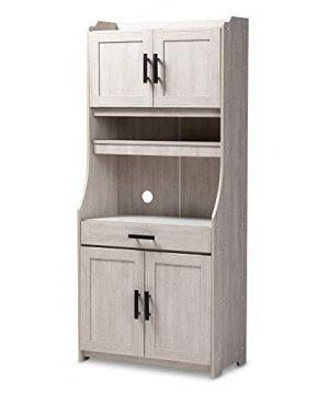 Baxton Studio 152 9175 AMZ Kitchen Storages One Size White 0 300x360