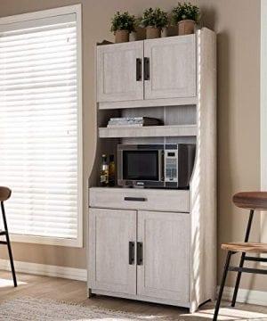 Baxton Studio 152 9175 AMZ Kitchen Storages One Size White 0 4 300x360