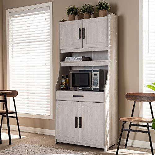 Baxton Studio 152 9175 AMZ Kitchen Storages One Size White 0 4