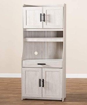 Baxton Studio 152 9175 AMZ Kitchen Storages One Size White 0 5 300x360