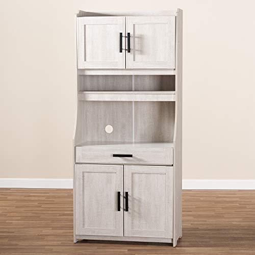 Baxton Studio 152 9175 AMZ Kitchen Storages One Size White 0 5