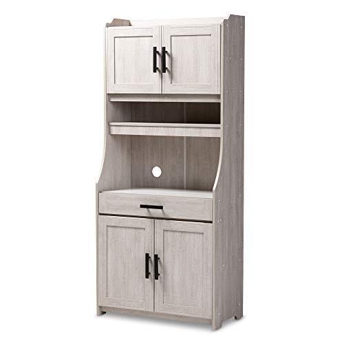 Baxton Studio 152 9175 AMZ Kitchen Storages One Size White 0
