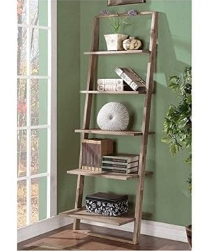 Beaumont Lane Leaning Bookcase In Smoky Driftwood 0 0 300x360