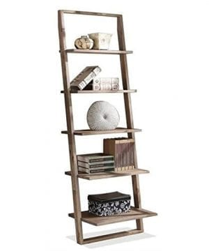 Beaumont Lane Leaning Bookcase In Smoky Driftwood 0 300x360