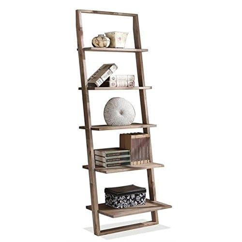 Beaumont Lane Leaning Bookcase In Smoky