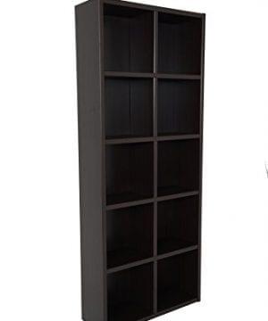 Boraam 80100 Techny Collection Calder Hollow Core Bookcase Espresso 0 300x360