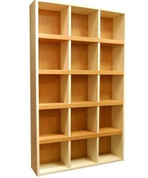 Boraam 90580 Techny Collection Scully Hollow Core Bookcase CreamMaple 0 300x360