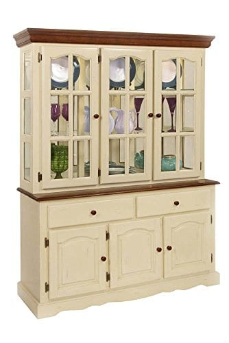 Boston Buffet And Hutch In Buttermilk And Cherry Finish 0